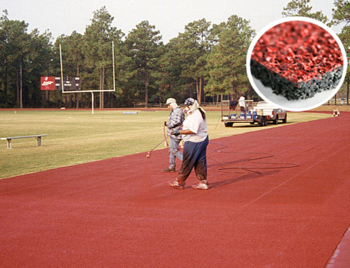 Running Track, Spray Coating