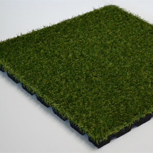 Rubber And Artificial Grass Tile Greenwell Synthetic Turf